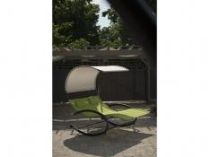 Dwuosobowy fotel bujany, CHAISERK2 - Zielony(GA)