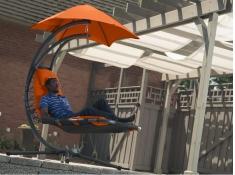 Fotel hamakowy, DREAM - pomarańczowy(OZ)