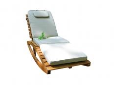 Drewniany leżak, Joy-Ecru - ecru(1)