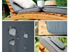 Drewniany leżak, Joy-Grafit - grafitowy(3)