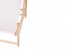 Drewniany leżak z podłokietnikiem, Swing Sunbed Plus - ecru(1)