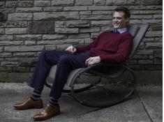 Fotel bujany, WAVEROCK1 - Brązowy(MA)