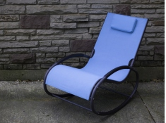 Fotel bujany, WAVEROCK1 - niebieski(OB)