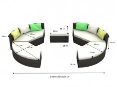 Łóżko ogrodowe Ricco, LO.001.007 - czarny(007)