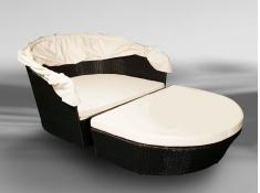 Łóżko ogrodowe Tacito, LO.002.003 - czarny(003)