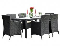 Zestaw mebli stołowych CAPITALE, MS.001.003 - czarny(003)