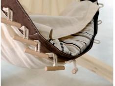 Podszyty koc do hamaków niemowlęcych, Sunny - brązowo-biały(Cacao)