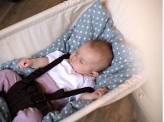 Podszyty koc do hamaków niemowlęcych, Sunny Grey - Szary(Grey)