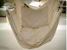 Poduszka hamakowa duża z haftem, HP z haftem - ecru-srebrny(209 sreb)