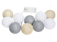 Świecące kule led, Cotton Balls 10 - kolorowy(1)