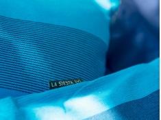 Bawełniana poduszka Orquídea, ORP5S - Niebieski(3)