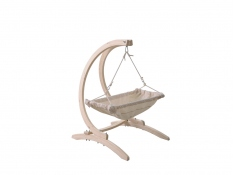 Stojak do foteli hamakowych dla niemowląt, Carello Baby - świerk + bejca w kolorze oliwkowym(1)