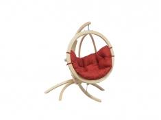 Stojak do foteli hamakowych dla niemowląt, Hippo - drewno - oliwka(1)