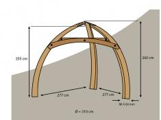 Stojak do namiotów Cacoon, Tripod Wood - sosna(TW1)
