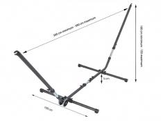 Regulowany metalowy stojak do hamaków, Universal - Anthracite(10816)