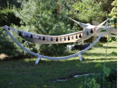 Stojak ogrodowy Grenada Biały
