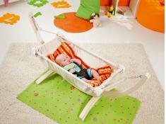 Stojak pod hamak niemowlęcy, Leo - drewno - oliwka(1)