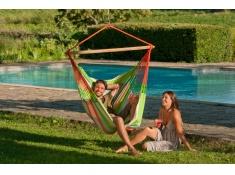 Zestaw hamakowy: fotel hamakowy Domingo ze stojakiem Romano, DOL21ROA16 - Kolorowy(8)