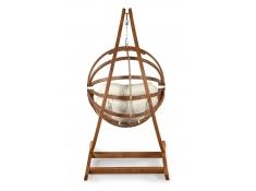 Fotel hamakowy drewniany Gaya(L)-E + stojak Optimist, Zestaw: Gaya (L)-E+Optimist - ecru(1)