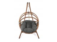 Fotel hamakowy drewniany Gaya(L)-G+Stojak Optimist, Zestaw: Gaya (L)-G+Optimist - grafitowy(3)