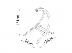 Fotel hamakowy drewniany Gaya(M)-E + stojak Genoa, Zestaw: Gaya (M)-E+Genoa - ecru(1)