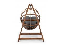 Fotel hamakowy drewniany Gaya(M)-G+Stojak Genoa, Zestaw: Gaya (M)-G+Genoa - grafitowy(3)