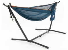 Hamak Mesh + stojak metalowy 9f, C9MESH - niebieski(40)