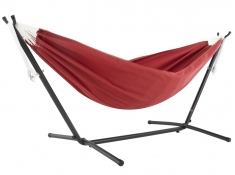 Hamak Sunbrella + stojak metalowy 8f, C8SUN - Czerwony(CR)