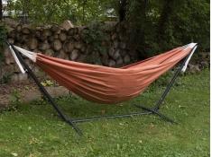 Hamak Sunbrella + stojak metalowy 8f, C8SUN - Pomarańczowy(CO)