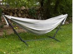 Hamak Sunbrella + stojak metalowy 8f, C8SUN - beżowo-szary(DO)