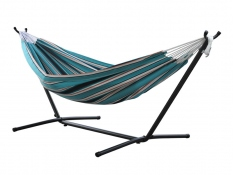 Hamak Sunbrella + stojak metalowy 8f, C8SUN - Niebieski / turkusowy(T)