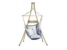 Zestaw hamakowy: fotel AHC-12 ze stojakiem drewnianym Atlas, fotel AHC-12+stojak Atlas - jeans(12)