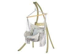 Zestaw hamakowy: fotel HCXL-C ze stojakiem drewnianym Atlas
