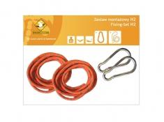 Zestaw hamakowy H w kolorze 233 z poduszkami i zestawem montażowym