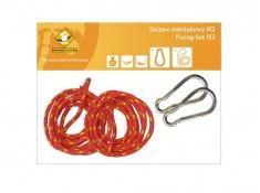 Zestaw hamakowy H w kolorze 239 z poduszkami i zestawem montażowym