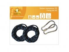 Zestaw hamakowy H w kolorze 255 z poduszkami i zestawem montażowym