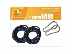 Zestaw hamakowy H w kolorze 290 z poduszkami i zestawem montażowym