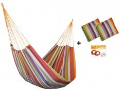 Zestaw hamakowy HW w kolorze 217 z poduszkami i zestawem montażowym