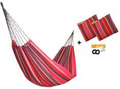 Zestaw hamakowy HW w kolorze 218 z poduszkami i zestawem montażowym, HW-PZS-218 - Lava(218)