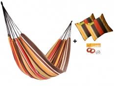 Zestaw hamakowy HW w kolorze 233 z poduszkami i zestawem montażowym