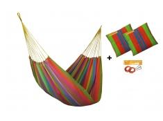Zestaw hamakowy HW w kolorze 256 z poduszkami i zestawem montażowym