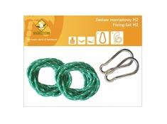 Zestaw hamakowy HW w kolorze 294 z poduszkami i zestawem montażowym, HW-PZS-294 - zielony groszek(294)