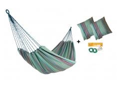 Zestaw hamakowy HW w kolorze 297 z poduszkami i zestawem montażowym, HW-PZS-297 - zielony(297)