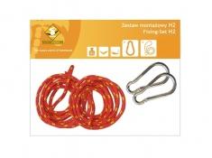 Zestaw hamakowy HW w kolorze 298 z poduszkami i zestawem montażowym, HW-PZS-298 - Colorful(298)