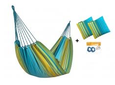 Zestaw hamakowy HW w kolorze 299 z poduszkami i zestawem montażowym
