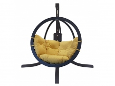 Zestaw: stojak Alicante antracyt + fotel Swing Chair Single antracyt