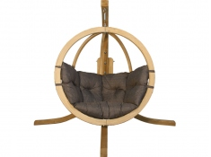 Zestaw: stojak Alicante + fotel Swing Chair Single (2), Alicante+Swing Chair Single (2) - grafitowy(5)