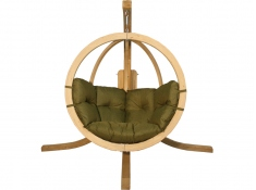 Zestaw: stojak Alicante + fotel Swing Chair Single (2), Alicante+Swing Chair Single (2) - pistacjowy(6)