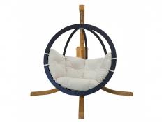Zestaw: stojak Alicante + fotel Swing Chair Single antracyt krem