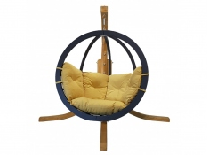 Zestaw: stojak Alicante + fotel Swing Chair Single antracyt